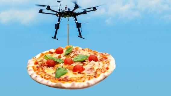 Pizza Drohne Lieferservice der Zukunft